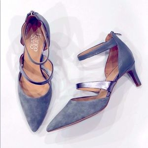 Franco Sarto Davey Suede Leather Pointed Toe Heels